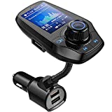GUANDA TECHNOLOGIES CO, LTD. Bluetooth FM Transmitter in-Car Wireless Radio Adapter Kit W 1.8' Color Display S Handsfree Call AUX in/Out SD/TF Card USB Charger QC3.0 for All Smartphones Audio Players