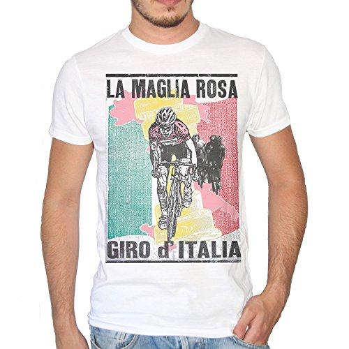 Brain Factory T-Shirt Maglia Rosa Giro d'Italia retr - by Uomo-M-Bianca