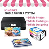 Icinginks Cake Printer Bundle System - Includes Wireless Photo Printer, Set of 5 Ink Cartridges, and Free Image Designing Lifetime