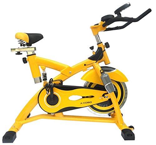 Kobo Exercise Spin Bike with Steel Wheel (Imported) (SB-1-YLW)