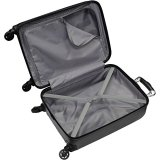 Verdi Luggage Carry On 20 inch ABS Hard Case Rolling Suitcase With Spinner Wheels (Charcoal)