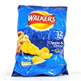 12 x 25g Cheese & Onion Walkers Crisps