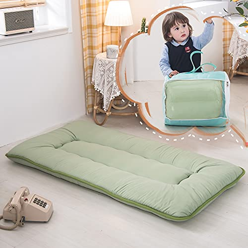 Product Image 1: YOSHOOT Portable Toddler Travel Bed, Kids Memory Foam Floor Mattress Bed Foldable, Mattress for Toddler, Portable Travel Mattress Camp Mattress Tatami Mat, with Mattress Cover and Carry Storage Bag