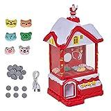 Homcom Candy Grabber Maison de Noël - Machine Attrape à Bonbons - Machine à Pince - Jeu de Griffe...