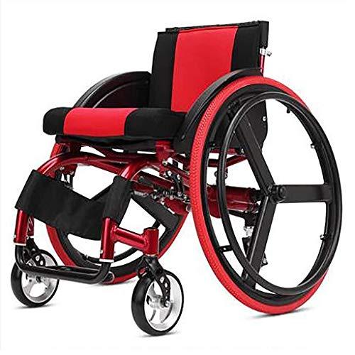 Silla de ruedas Deportes Plegable Portátil Ocasional Ligero con Ultra-Light Aleación De Aluminio Amortiguador Tranvía Rápido De La Rueda Trasera De Lanzamiento