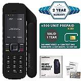 2021 Unlocked IsatPhone 2.1 Satellite Phone with 500 Unit Prepaid SIM Card Valid 1 Year - Voice, SMS, GPS Tracking, Emergency SOS Global Coverage - Water Resistant