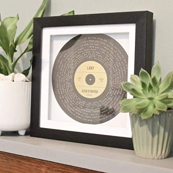 Personalised gold, silver or copper foil printed favourite song lyrics record print gift, any song, any colour scheme