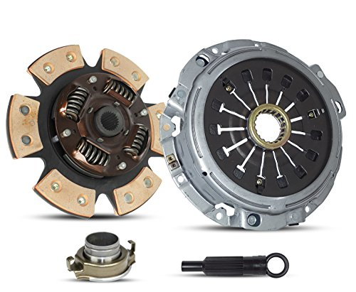 Clutch Kit Compatible With Eclipse Gt Gts Spyder Gt Spider Gts Hatchback Convertible 2-Door 2000-2005 3.0L V6 GAS SOHC Naturally Aspirated (6-Puck Stage 2; 05-105CB)