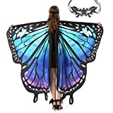 Butterfly Wings for Kids Women Halloween Costume with Mask (Starry Sky)