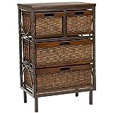 Safavieh American Homes Collection Andrew Dark Teak 4-Drawer Storage Cabinet