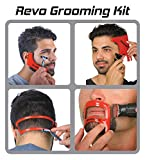 Revo Haircut Kit - Beard, Hair, Goatee, and Neckline Shaving Template Guide - Perfect Hairline Lineup and Beard Shaping Tool - Hair Cutting and Grooming Kit - Barber Supplies