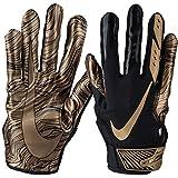 Nike Men's Vapor Jet 5.0 Football Gloves (Black/Metallic Gold, Large)