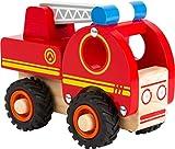 small foot 11075 Camion de pompiers en bois, facile d'accès,...