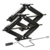 WEIZE Camper Trailer Stabilizer Leveling Scissor RV Jacks with Handle -24'- 5000lbs - Set of 2