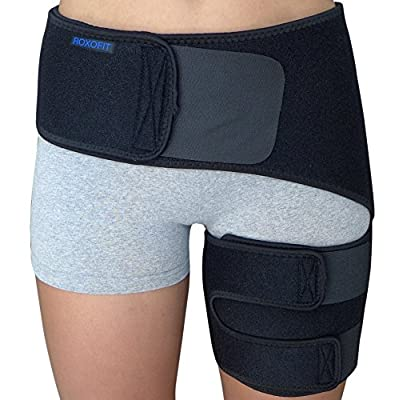 HELPS RELIEVE PAIN AND SPEEDS UP RECOVERY from sciatica, hip flexor injury, thigh strain (pulled hamstring, quad, hip adductor), hip labral tear, hip bursitis, hip arthritis, SI joint (Sacroiliac joint) issues, or other injuries that cause pain in hi...