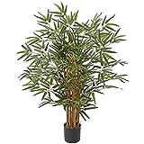 Plantes artificielles en bambou de 0,9 m, plantes artificielles dans un pot de pépinière, arbres décoratifs pour la maison, le bureau, le hall d'entrée