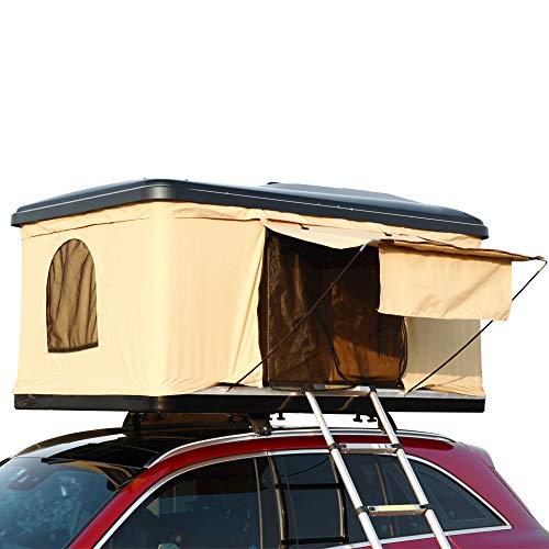 Hewflitルーフテント 車上テント カールーフテント キャンピング 車上泊 はしご付き [並行輸入品]
