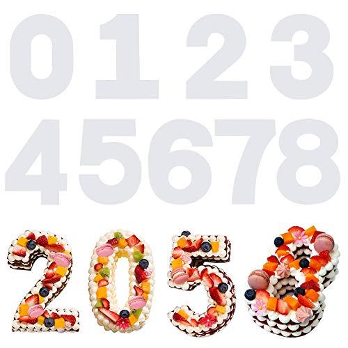 SAVITA 9 Piezas 31 cm 0-8 Plantillas para Tartas con Número