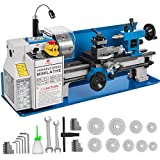 BestEquip Metal Lathe 7x14inch Precision Bench Top Mini Metal Lathe 550W Precision Metal Lathe Variable Speed 50-2500 RPM Nylon Gear with A Movable Lamp
