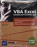 VBA Excel (version 2019 et office 365) : Coffret de 2 livres : Maîtrisez la programmation...