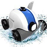 PAXCESS Cordless Robotic Pool Cleaner, Automatic Pool Robot Vacuum with 60-90 Mins Working Time, Rechargeable Battery, IPX8 Waterproof for Above Ground Swimming Pools Up to 861 Sq Ft
