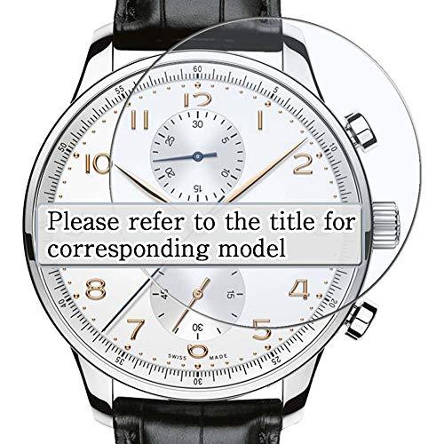 Vaxson 3 Stück Schutzfolie, kompatibel mit TISSOT Heritage VISODATE T019.430.16.051.01, Displayschutzfolie TPU Folie Smartwatch Armbanduhr [nicht Panzerglas]