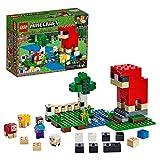 LEGO Minecraft - La ferme à laine, Jeu Construction et Aventure 7 Ans et Plus, Jouet pour Garçon et Fille de 260 Pièces - 21153