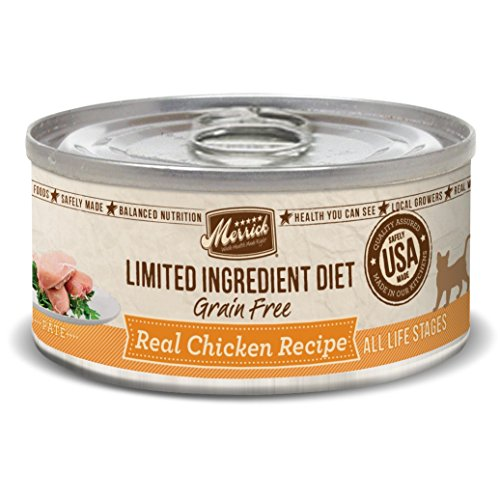 Merrick Grain Free Limited Ingredient Diet Real Meat Adult Wet Cat Food Chicken (24) 5oz cans