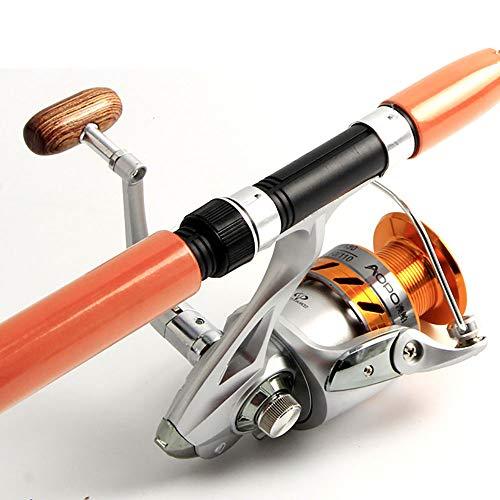gengyouyuan FRP - Set da Pesca con Canna da Pesca e Canna da Pesca con Impugnatura Dritta, Ruota a Goccia d'Acqua, Set di rotelle dritte, 2.4 Meters