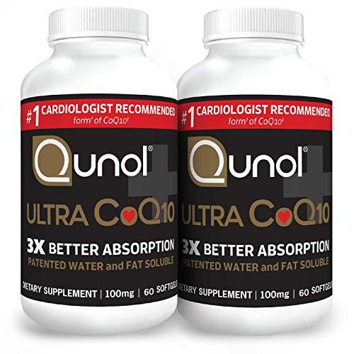 Qunol Ultra CoQ10 100mg 3X Better Absorption Patented Water...