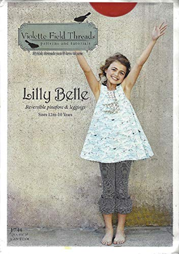 Lilly Belle Pattern F744 - Sizes 12 Months to 10 Years from Violette Field Threads Girls Reversible Pinafore & Leggings