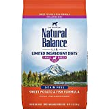 Natural Balance L.I.D. Limited Ingredient Diets Small Breed Bites Dry Dog Food, Sweet Potato & Fish Formula, 4.5 Pounds