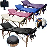Beltom Table de Massage 3 Zones Classique Portables 180 x 56 cm. - ne pèse...