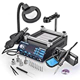 New & Improved X-Tronic MODEL 5040-XR3 All In One Hot Air Rework Soldering Iron Station With Preheater. Now Includes Plug & Play Hot Air Gun With Iron Holder & Sponge Cleaner