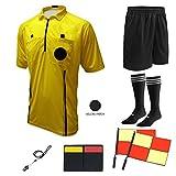 Winners Sportswear Soccer Referee 9 Piece Package (2018 USSF Yellow, Youth Large)