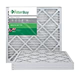 FilterBuy 20x22x1 MERV 8 Pleated AC Furnace Air Filter, (Pack of 4 Filters), 20x22x1 – Silver