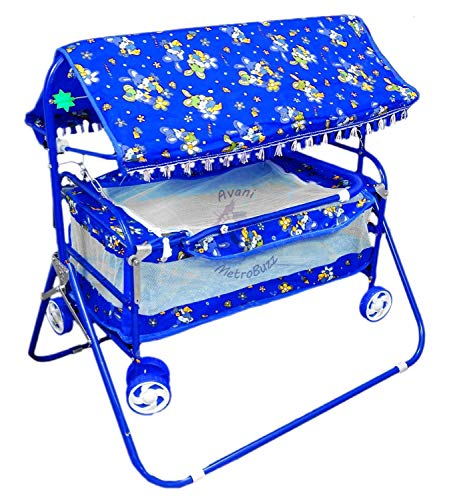 AVANI METROBUZZ Baby Crib and Cradle Two in One (Blue)
