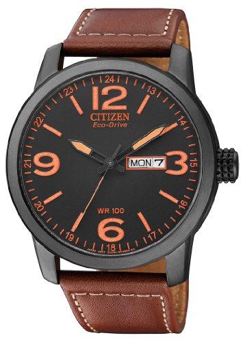 Citizen Herren Analog Quarz Uhr mit Leder Armband BM8476-07EE