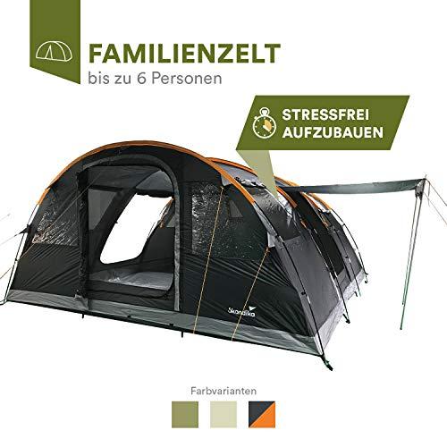 skandika Gotland 6 - Tente familiale Tunnel - 6 Personnes - 540 x 450 cm...