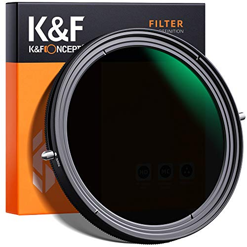 K&F Concept 82mm Variable Fader ND2-ND32 ND Filter and CPL...