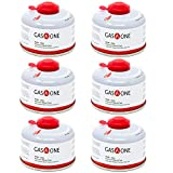 GasOne Camping Fuel Blend Isobutane Fuel Canister 100g (6 Pack)