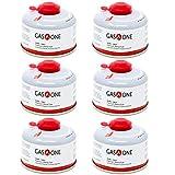 GasOne Camping Fuel Blend Isobutane Fuel Canister 100gram (6 Pack)