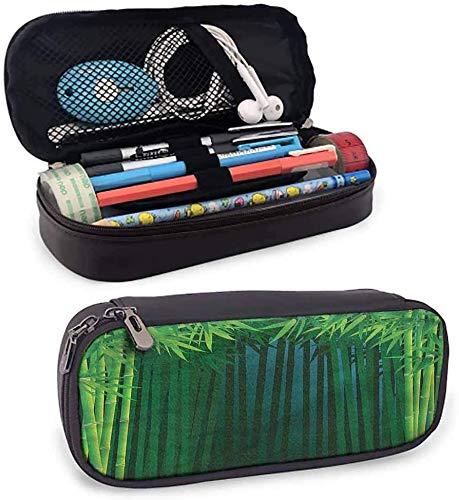 KLKLK astuccio Exotic Kids Pencil case Green Leafy Branches Small Pencil Bag Smooth Surface