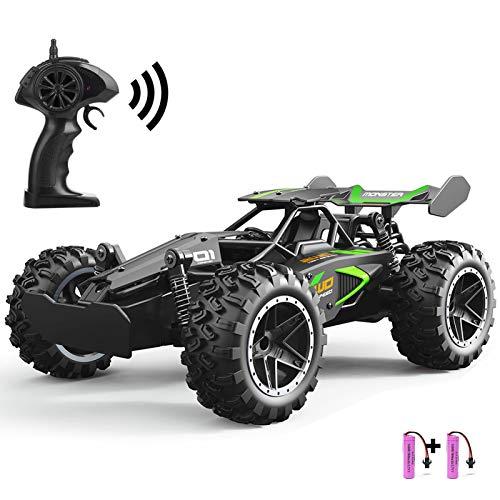 SZJJX RC Voiture Télécommande Jouets pour Enfants Voitures en Alliage 2WD 2.4 GHz Camion 15+KM/H Haute Vitesse Voiture de Course Buggy avec Deux Batteries Cadeau pour Filles et Garçons