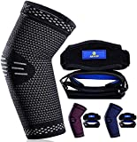 ABYON Professional Elbow Compression Sleeve(1pcs) +Tennis Elbow Brace (2pcs)- (Shipped from USA) ,Elbow Support Gear for Sports or Daily Use to Reduce Joint Pain and Treat Tendonitis   Tennis Elbow   Golfer's Elbow   Arthritis