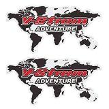 WHJIXC para Suzuki Adventure Tourer Strom DL 1000650250 Sport, Pegatina de Motocicleta, Maletas Laterales traseras, Caja de Aluminio para Equipaje