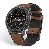 Amazfit GTR 47mm Reloj Inteligente Deportivo AMOLED de 1.39',GPS + GLONASS Integrado,Frecuencia cardíaca Continua de 24 Horas, Larga duración de batería,12 Deportes Diferentes - Acero Inoxidable