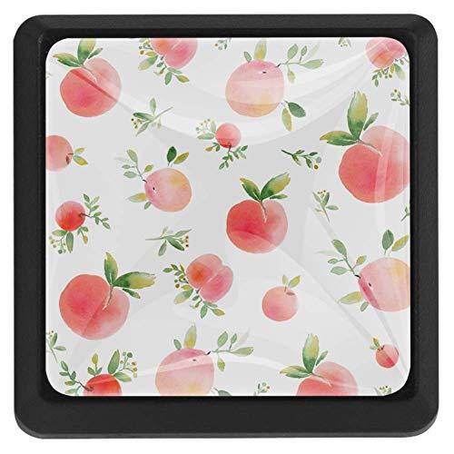 Pomelli quadrati per armadi e cassetti, design a forma di zucca di Halloween, Grazioso rosa pesca., 37x25x17mm/1.45x0.98x0.66in