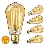 KKTICK Ampoule Edison, Lampe Edison Vintage Décorative Ampoule Filament E27...