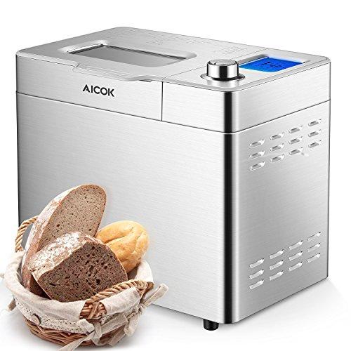 Aicok 2 Pound Programmable Bread Maker Machine